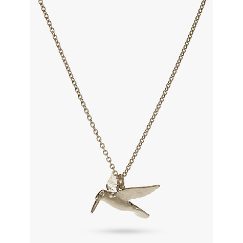 Buy Alex Monroe Hummingbird Pendant Necklace, Silver Online at johnlewis.com