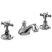 Buy John Lewis Bela 3 Tap Hole Basin Mixer with Pop Up Waste Online at johnlewis.com