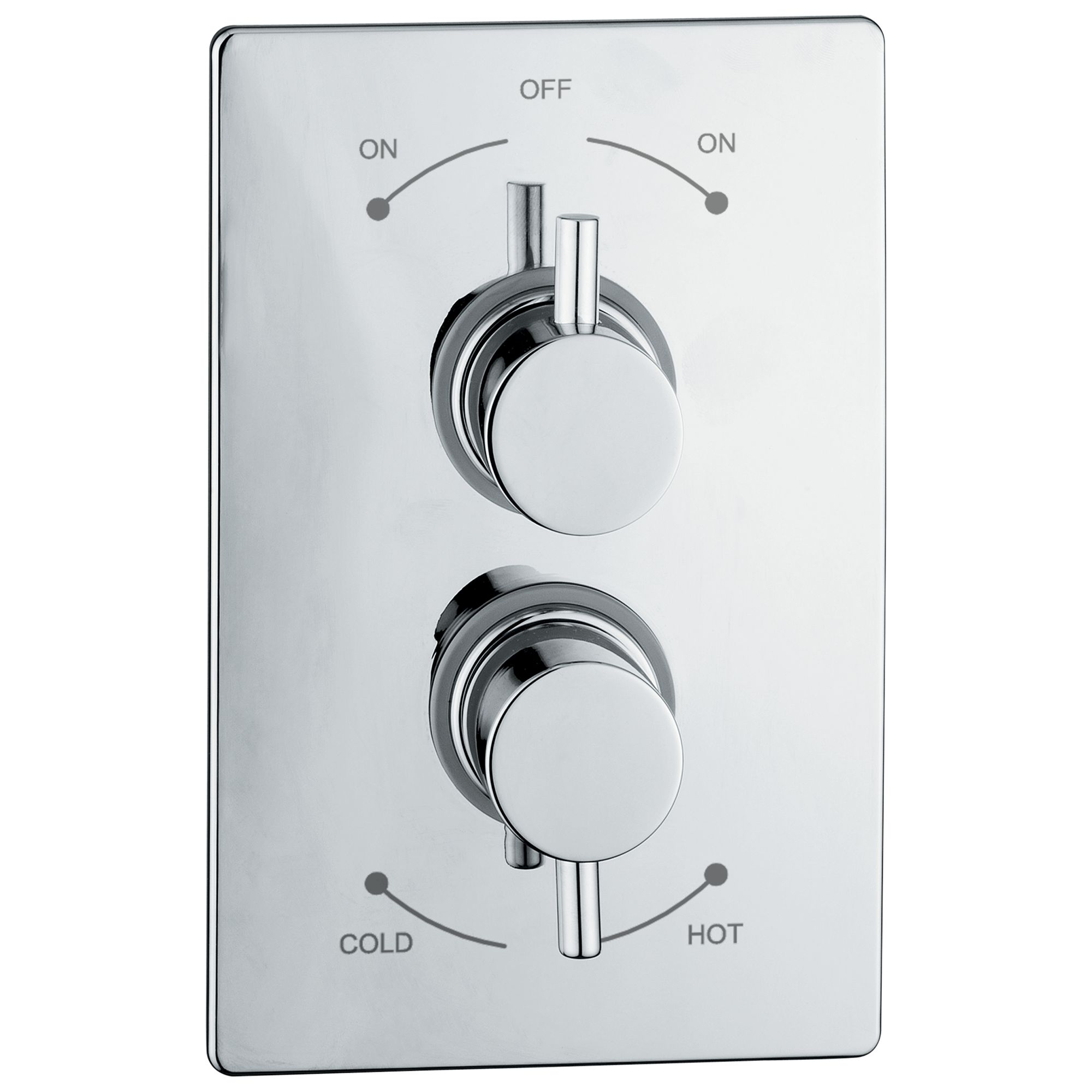 Abode Abode Euphoria Concealed Plate Mounted Thermostatic Shower Mixer, H70mm, Harmonie