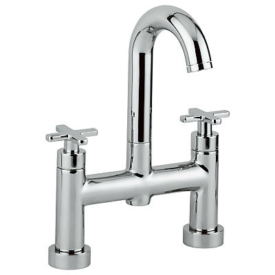Image of Abode Serenitie Deck Mounted Bathroom Filler Tap with Swan Spout