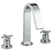 Buy Abode Serenitie Three Piece Deck Mounted Bath Filler Tap Online at johnlewis.com