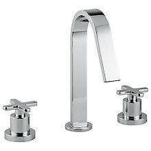 Buy Abode Serenitie Three Piece Deck Mounted Basin Filler Tap Online at johnlewis.com