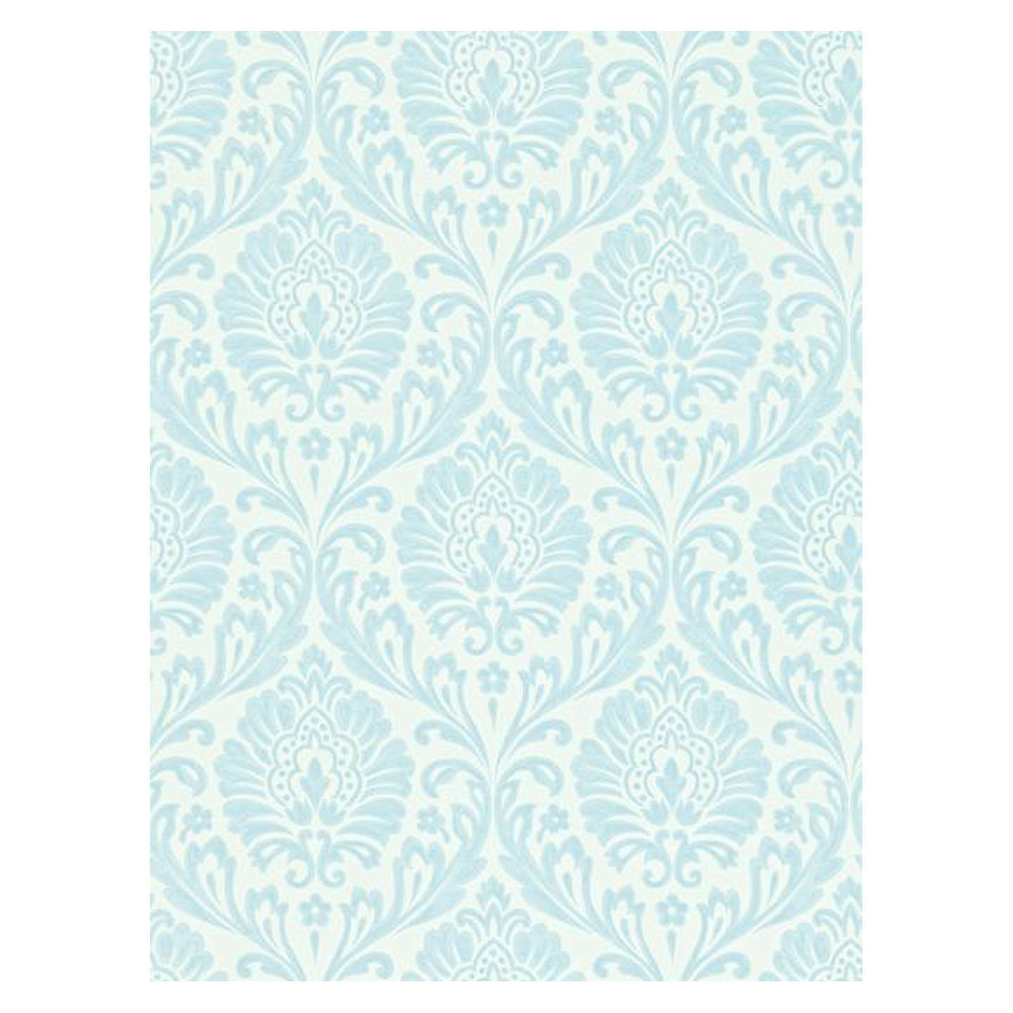 BuySanderson Home Ashby Damask Wallpaper China Blue Ivory 211999 Online At Johnlewis