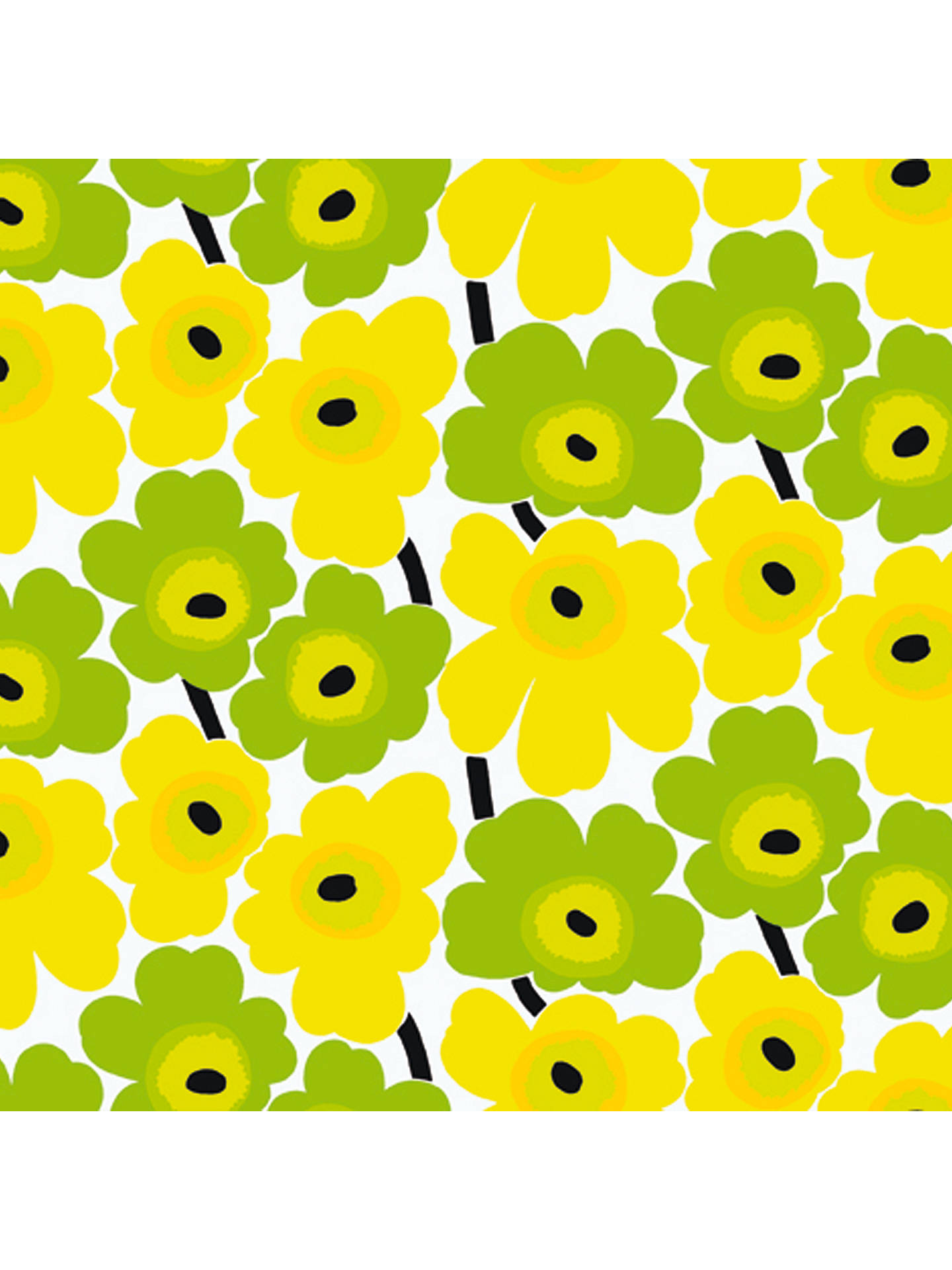 Marimekko Pieni Unikko Lemon Wallpaper Yellow Green 14162 At