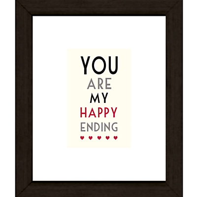 East of India You Are My Framed Print, 27 x 23cm