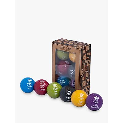 Longridge Keep Calm Golf Balls, Pack of 6