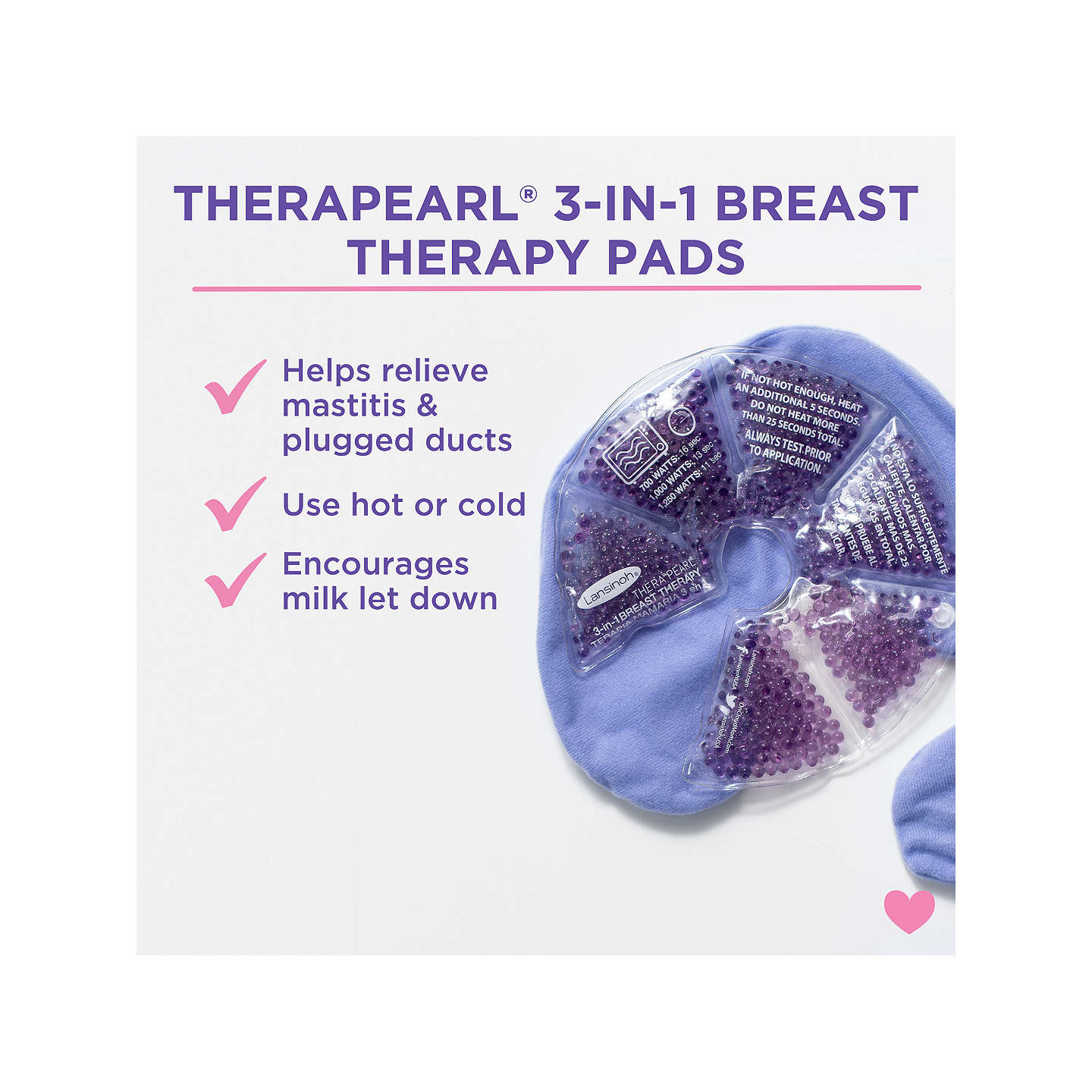 BuyLansinoh Therapearl 3-in-1 Breast Therapy Pack Online at johnlewis.com
