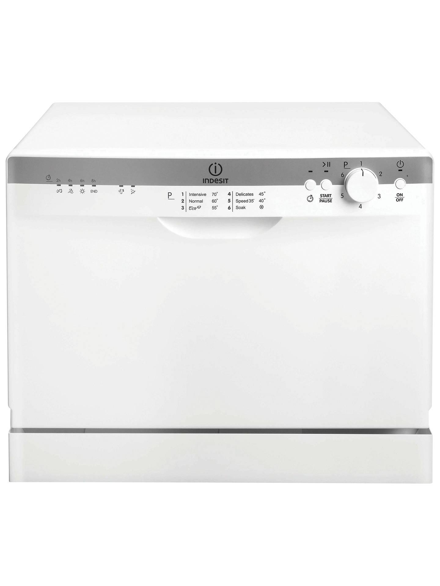 Indesit Icd661 Compact Dishwasher White At John Lewis Partners
