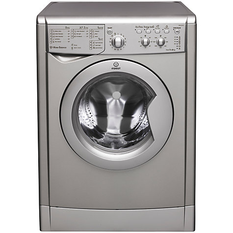 Buy Indesit IWC61651S Washing Machine, 6kg Load, A+ Energy Rating, 1600rpm Spin, Silver Online at johnlewis.com