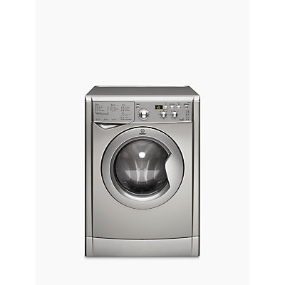 Indesit IWDD7143S Washer Dryer, 7kg Wash/5kg Dry Load, B Energy Rating, 1400rpm Spin, Silver