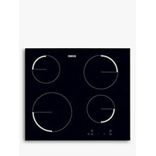 Buy Zanussi ZEV6240FBA Frameless Ceramic Hob, Black Glass Online at johnlewis.com