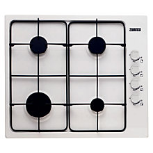 Buy Zanussi ZGG62414WA Gas Hob, White Online at johnlewis.com
