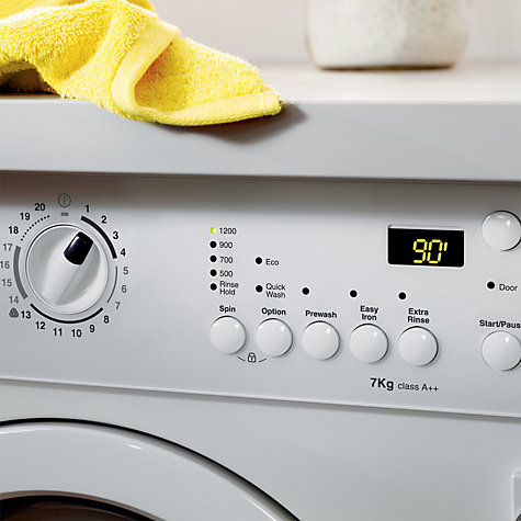 Buy Zanussi ZWI71201WA Integrated Washing Machine, 7kg Load, A++ Energy Rating, 1200rpm Spin Online at johnlewis.com