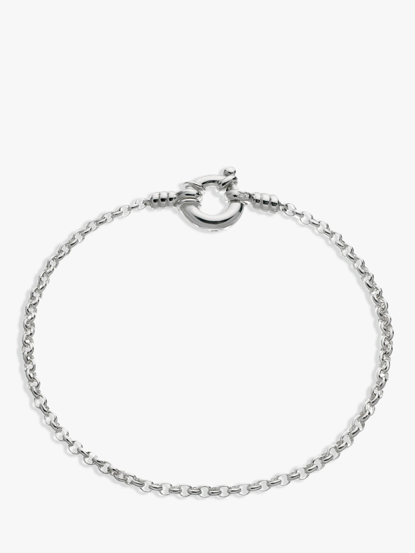 BuyLinks of London Mini Belcher Bracelet, Silver Online at johnlewis.com