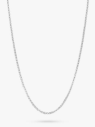 Links of London Essentials Sterling Silver Mini Belcher Chain Necklace, Silver