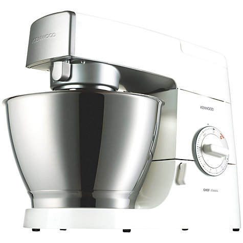 Buy Kenwood KM336 Chef Classic Stand Mixer, White/Stainless Steel Online at johnlewis.com