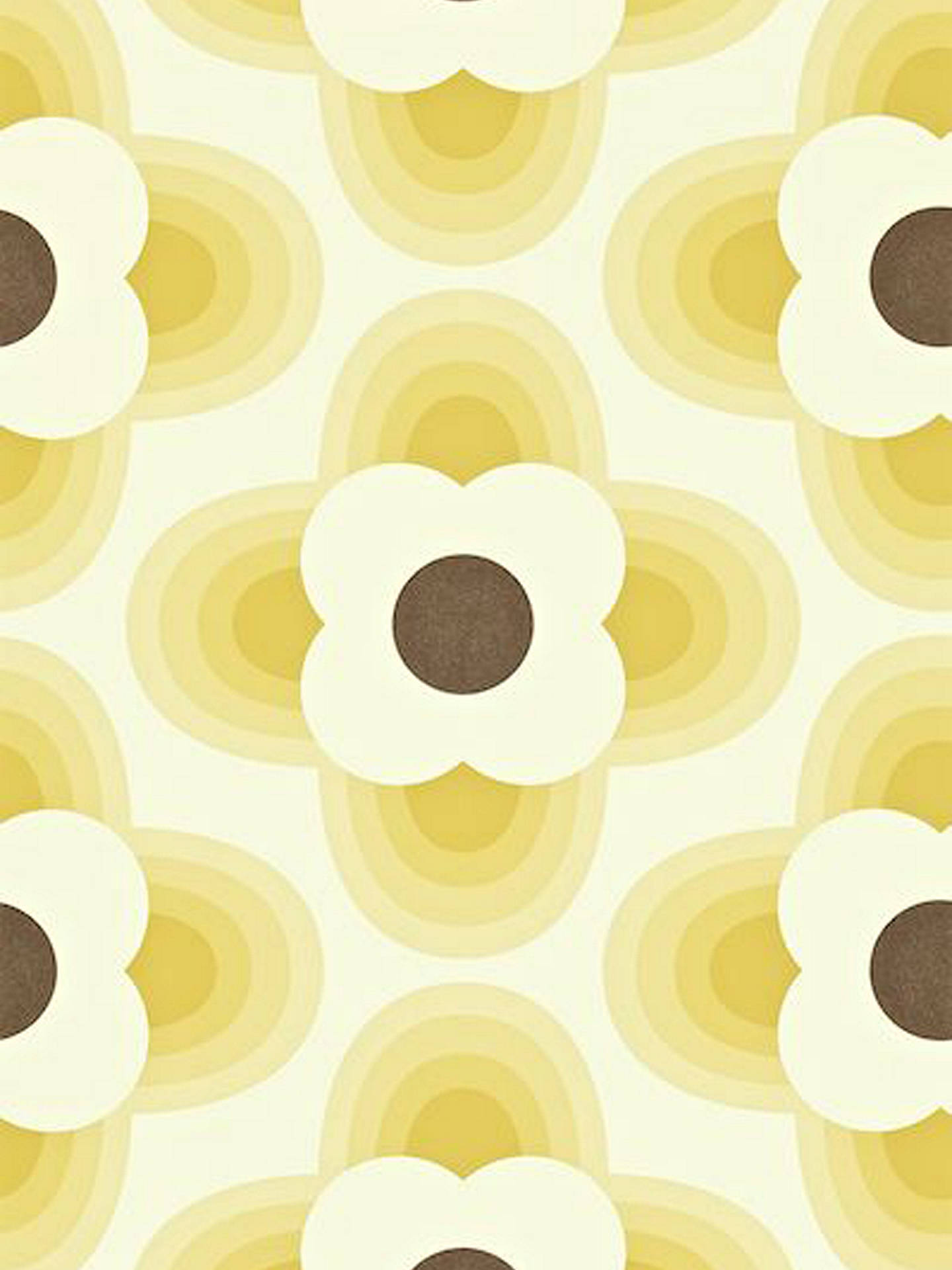 BuyOrla Kiely House for Harlequin Striped Petal Wallpaper, Yellow, 110405 Online at johnlewis.com