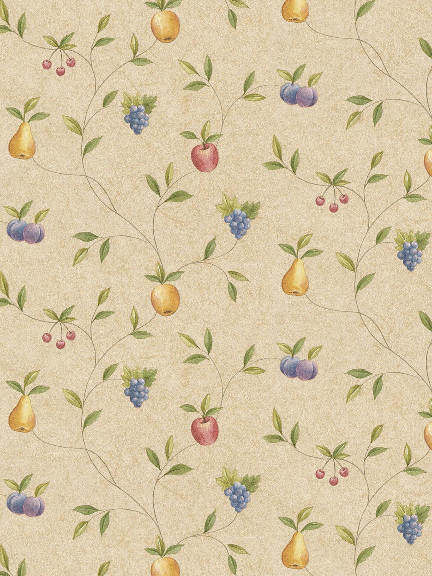 Galerie Fruit Trail Kitchen Wallpaper Natural Co25903 At John