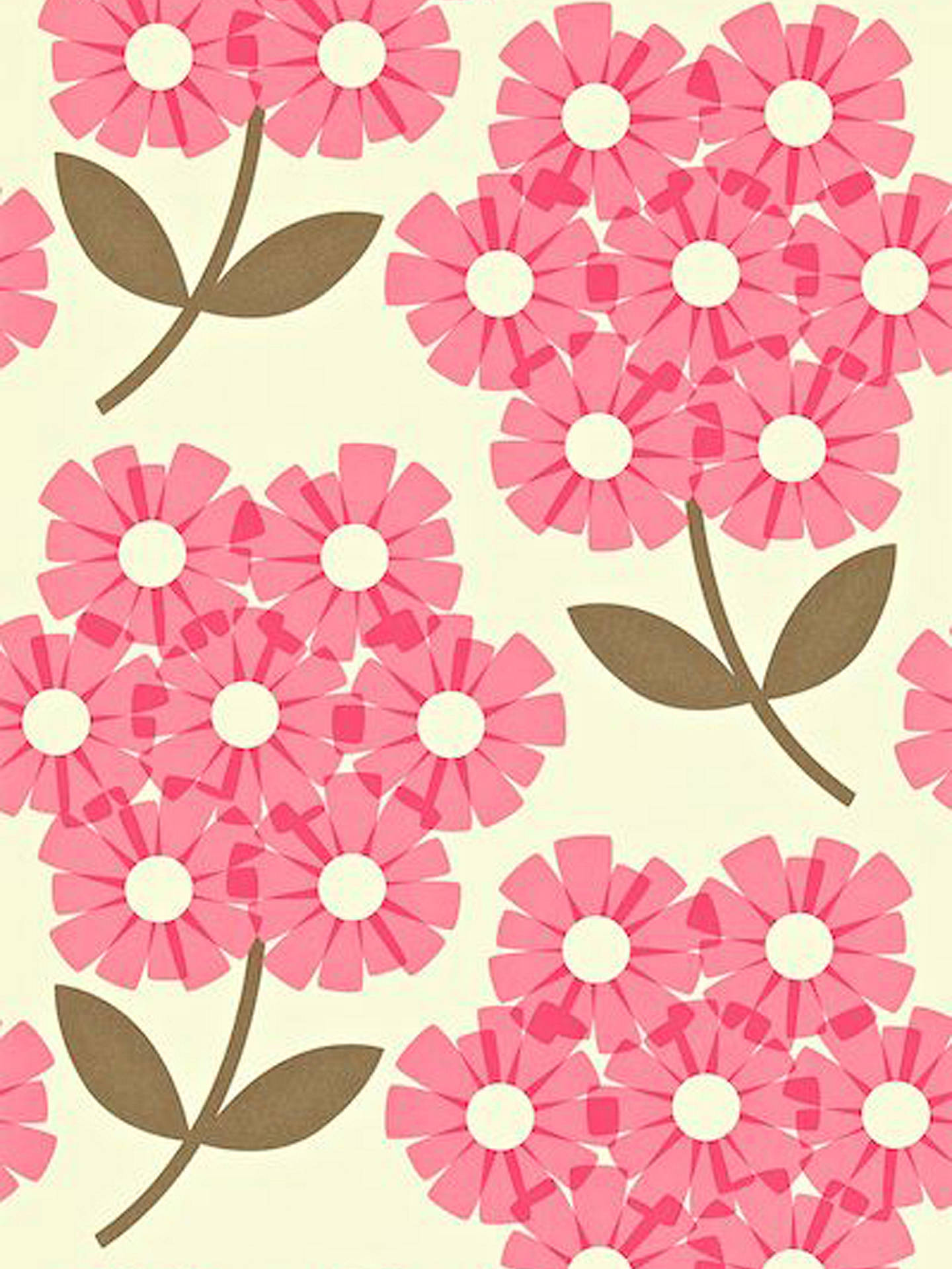 Buy Orla Kiely House for Harlequin Giant Rhododendron Wallpaper, Pink, 110410 Online at johnlewis.com