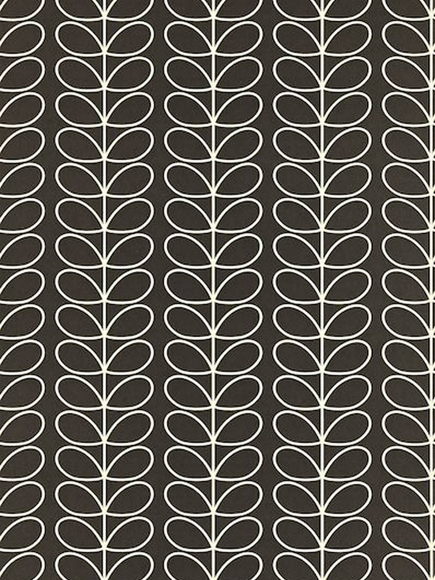 Buy Orla Kiely House for Harlequin Linear Stem Wallpaper, Steel, 110398 Online at johnlewis.com
