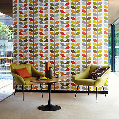 buy orla kiely house for harlequin multi stem wallpaper