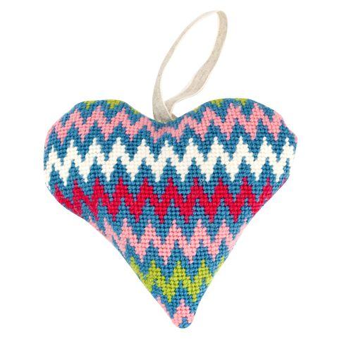 Cleopatra's Needle Cleopatra's Needle Lavender Heart Tapestry Kit, Bargello