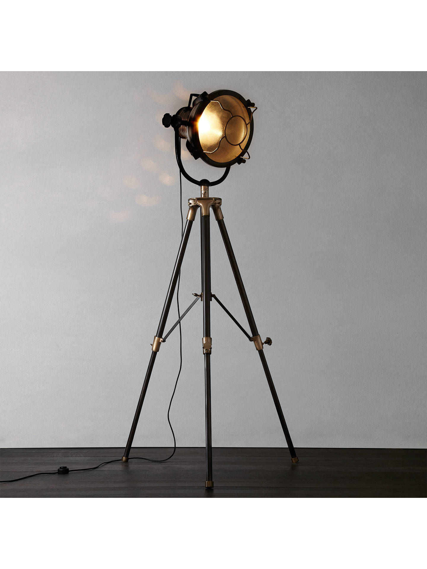 Libra Vintage Floor Lamp Antique Br Online At Johnlewis