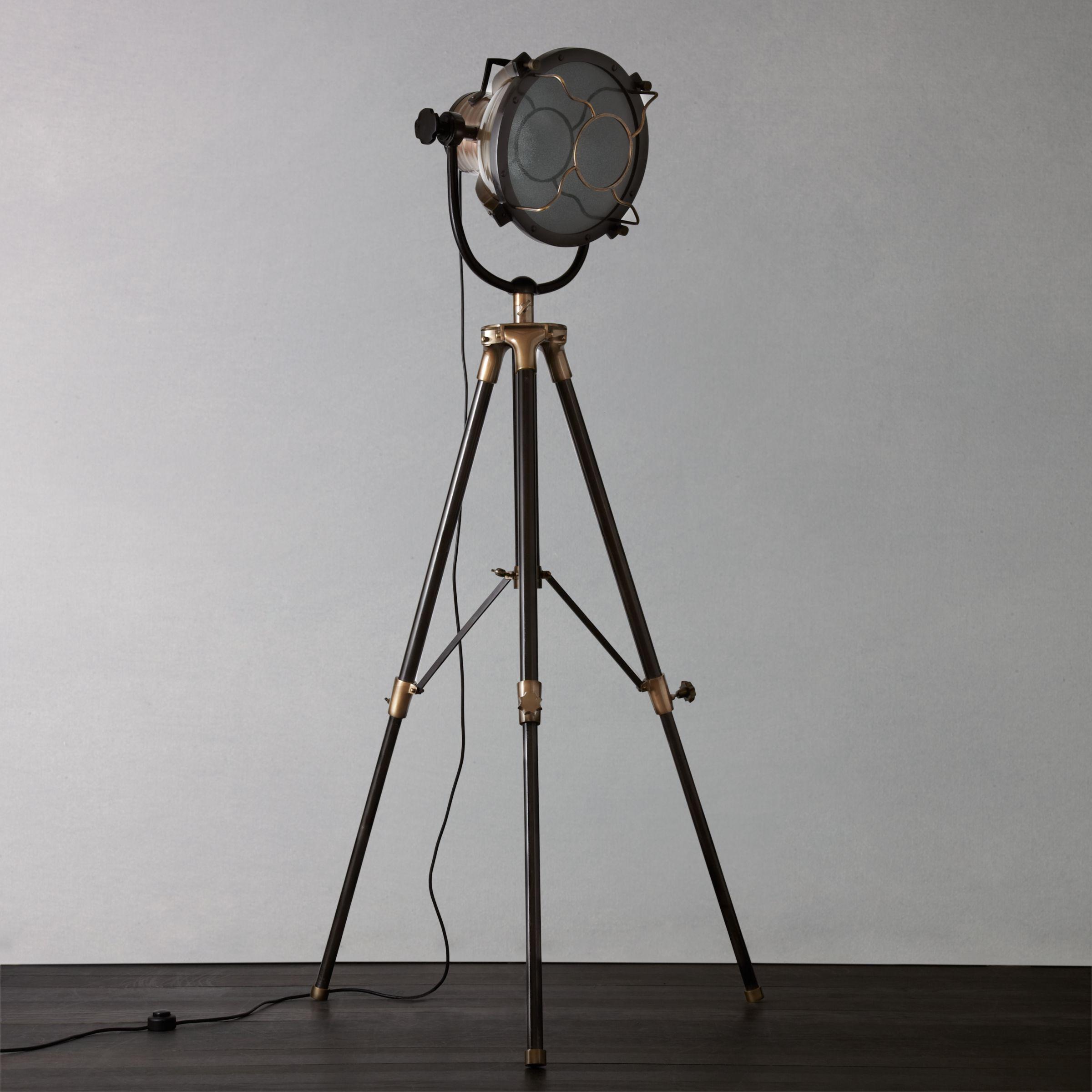 Libra Vintage Floor Lamp Antique Brass At John Lewis Partners
