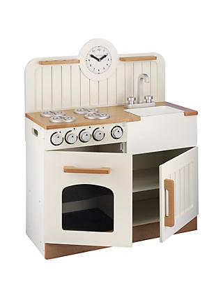 John Lewis & Partners Country Play Wooden Kitchen
