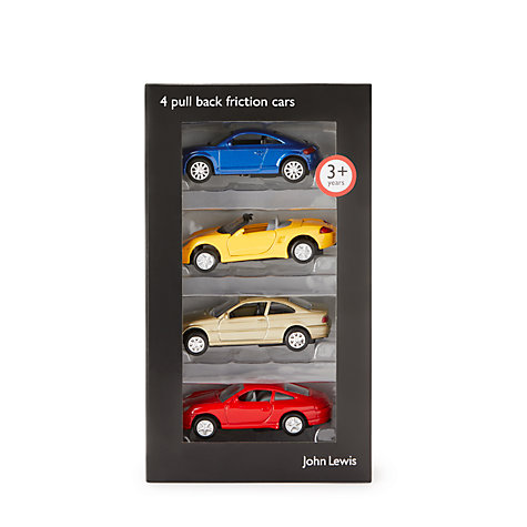 Buy John Lewis Pull Back Friction Cars, Pack of 4 Online at johnlewis.com