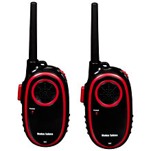 Buy John Lewis Walkie Talkies, 500m Range, Black/Red Online at johnlewis.com