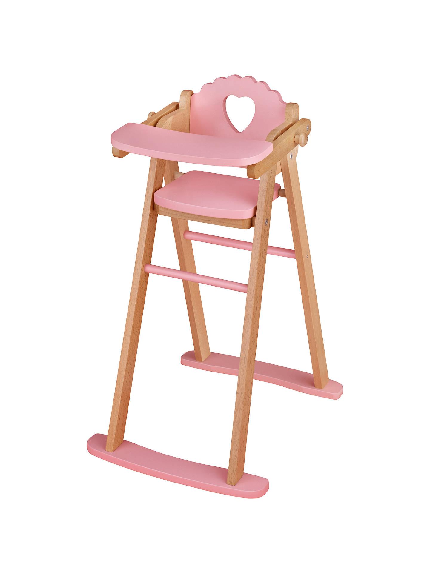 john lewis & partners doll's highchair