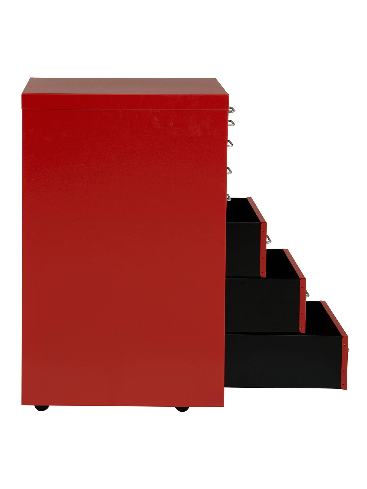Buy Bisley Non-Locking Under Desk Mutidrawer, Red Online at johnlewis.com
