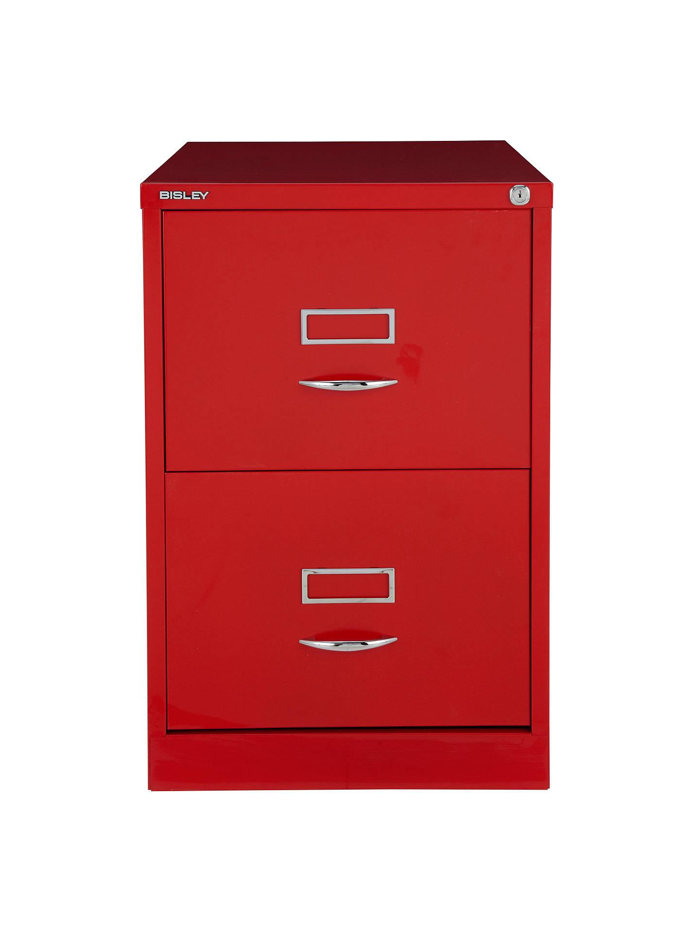 ... BuyBisley 2 Drawer Filing Cabinet, Red Online At Johnlewis.com ...