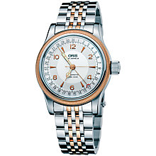 Buy Oris 01 754 7543 4361-07 8 20 63 Men's Big Crown Pointer Two Tone Bracelet Strap Watch, Silver/Rose Gold Online at johnlewis.com