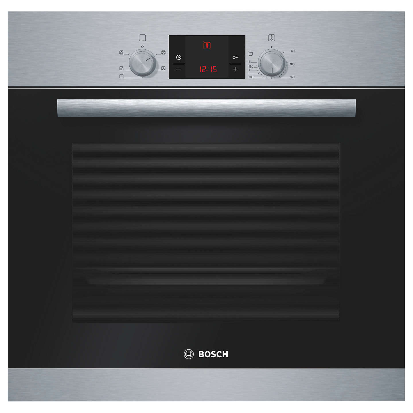 Bosch Hba13b150b Single Electric Oven Brushed Stainless Steel Online At Johnlewis