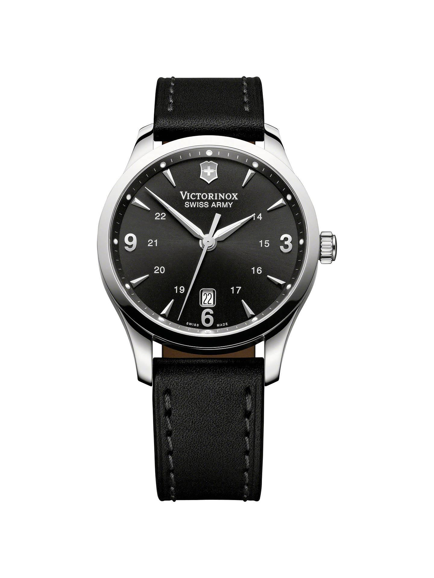 Victorinox 241474 Men S Alliance Leather Strap Watch