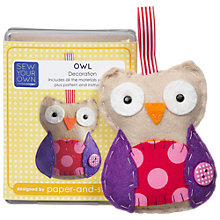 Buy Paper And String Sew Your Own Mini Owl Kit Online at johnlewis.com