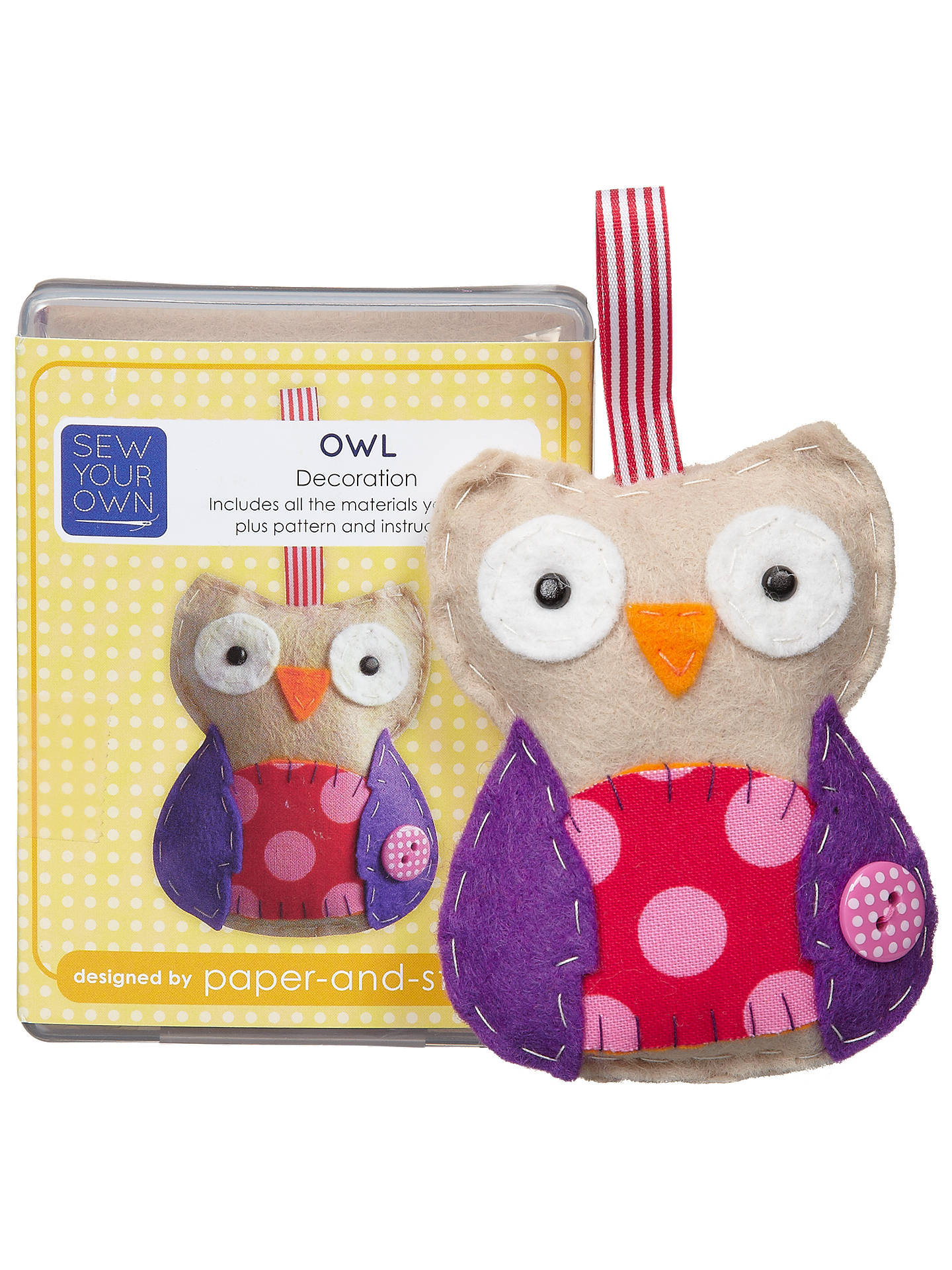 BuyPaper And String Sew Your Own Mini Owl Kit Online at johnlewis.com