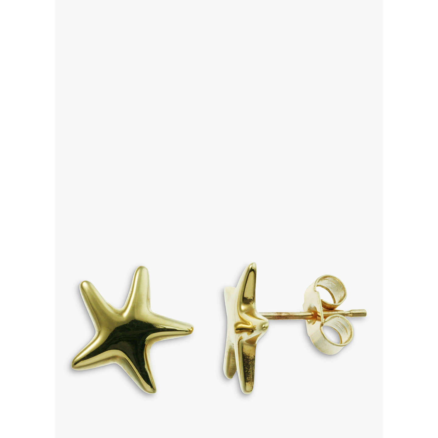 stylish starfish kandsimpressions a sterling stud pin earrings gift silver are jewelry