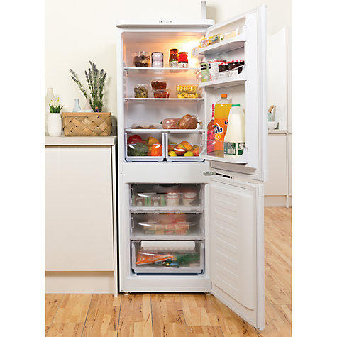 Buy Indesit NCAA55 Fridge Freezer, A+ Energy Rating, 55cm Wide, White Online at johnlewis.com
