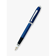 Buy Cross Townsend Fountain Pen, Quartz Blue Online at johnlewis.com