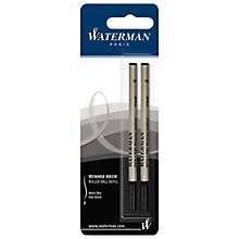 Buy Parker Waterman Rollerball Pen Refills, Black, Pack of 2 Online at johnlewis.com