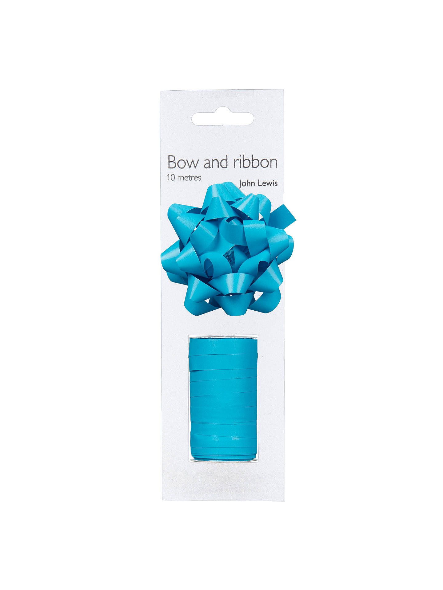 BuyJohn Lewis & Partners Gift Bow and Curling Ribbon Set, Turquoise Online at johnlewis.com