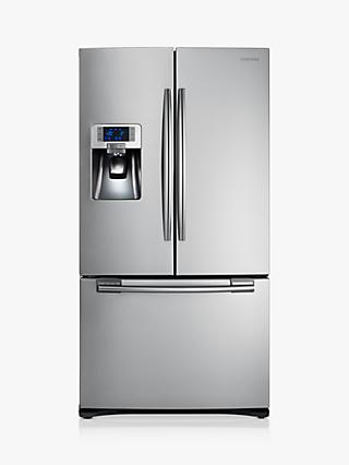 Samsung RFG23UERS 3-Door Freestanding 75/25 Fridge Freezer, A+ Energy Rating, Stainless Steel