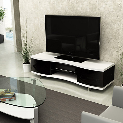 "Buy BDI Ola 8137 TV Stand for TVs up to 75"", Satin White Online at johnlewis.com"