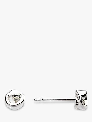 Kit Heath Revolution Twist Stud Earrings, Silver