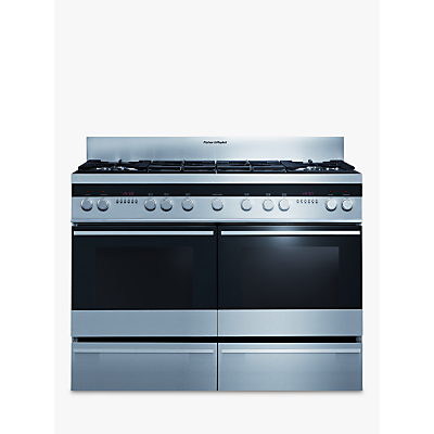 Image of Fisher & Paykel OR120DDGWX2 Dual Fuel Range Cooker, Stainless Steel
