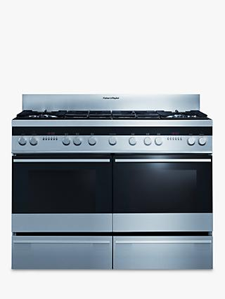Fisher & Paykel OR120DDGWX2 Dual Fuel Range Cooker, Stainless Steel