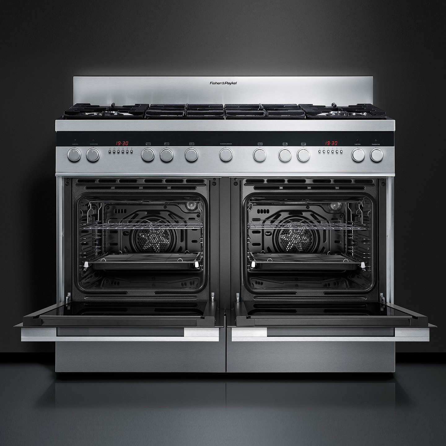BuyFisher & Paykel OR120DDGWX2 Dual Fuel Range Cooker, Stainless Steel Online at johnlewis.com